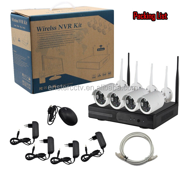 Hot-Sales Hd 720p/ 1080p Ip Wifi Outdoor Cctv Camera 4CH Nvr Kit,With Router