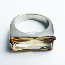 stainless steel silver crystal diamond welded D ring