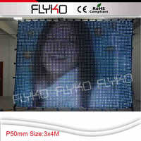blue firm video / sexy led video curtain in china guangzhou