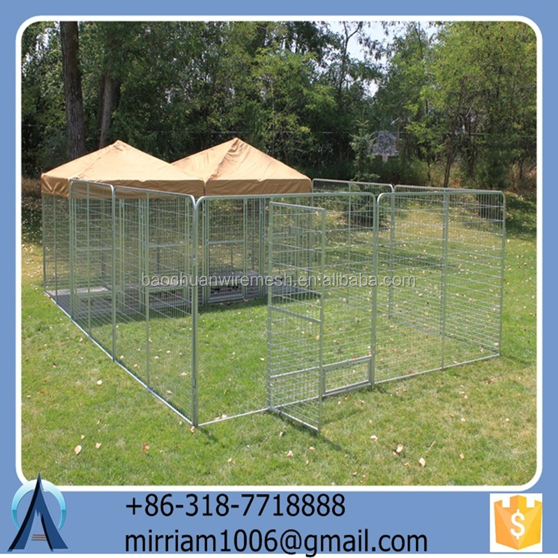 2015 hot sale new design high quality cheap wrought iron galvanized convenient safe outdoor dog cages/dog kennels