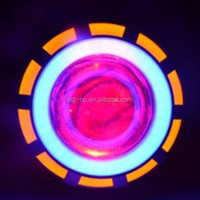 Popular Motorcycle LED Double Angel eyes motorcycle bi-xenon projector lens