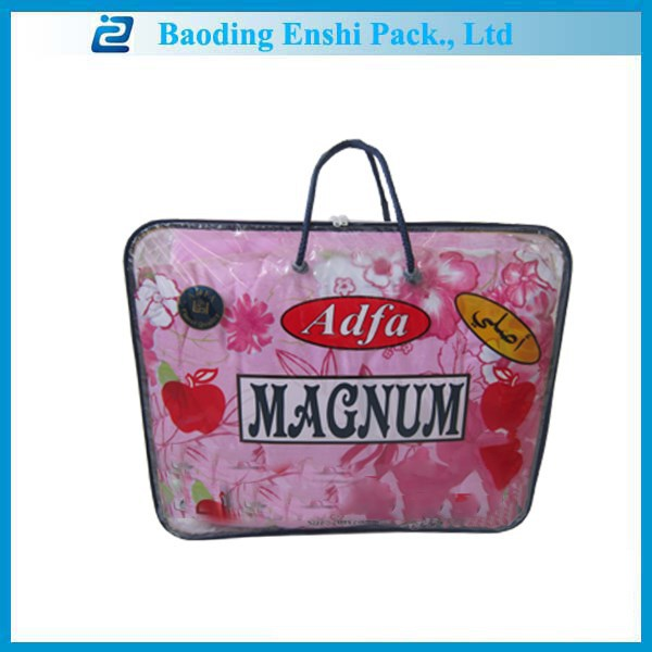 Custom made bags in china hot new plastics products for 2015 cheap Russia style blanket bag with logo printing