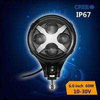 new design!!high power 60w led motorcycle driving light,cree led work light