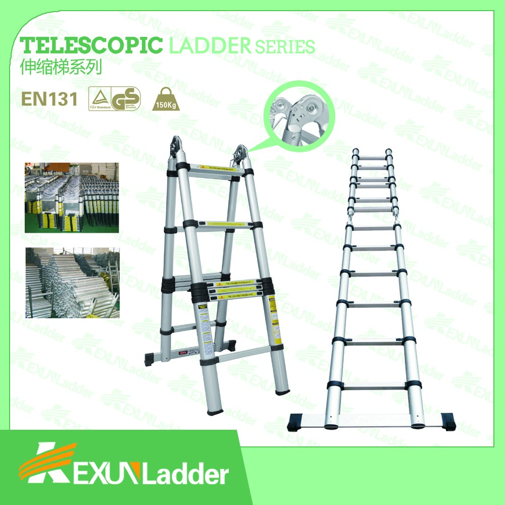 3 8 m doble equilibrio plegable de aluminio escalera for Precio escalera telescopica aluminio