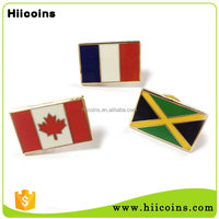 Metal Crafts Gold Plated Cheap Custom Wholesale Canadian Flag Lapel Pins