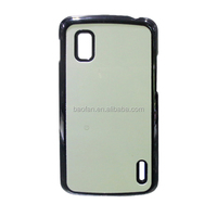 Blank Sublimation cell phone case for LG nexus4 with printable aluminum sheet