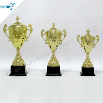 wholesale gold lid metal trophy cup award