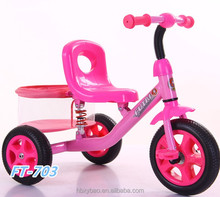 Hot selling durable hot toy children manual ride on car kids baby tricycle