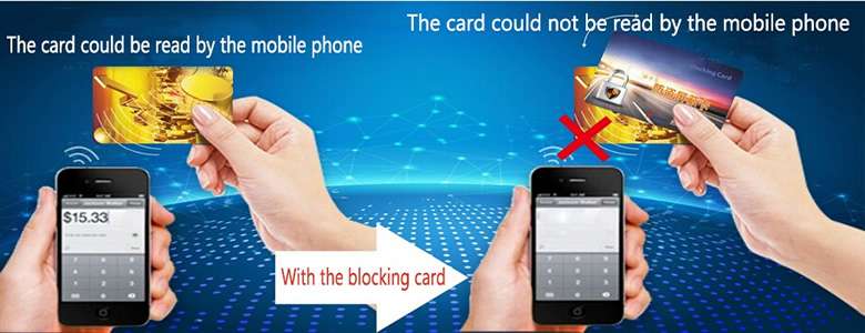 High quality RFID Blocking Card Anti Scanner 13.56MHz Credit Card protector RFID Blocker/NFC Card Skimmer
