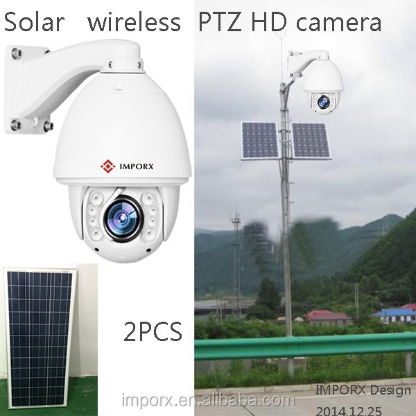 White 2mp 1080p Long Distance Solar Powered Wireless