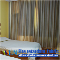 Ready Made fire retardant, permenent flame retardant window curtains