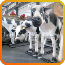 Animal Plastic Models Fiberglass Life Size Cow