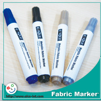 Mini permanent textile marker pen for 4 colors 4 pack