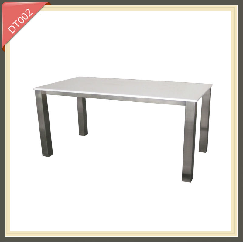 acacia wood plank marble top dining table
