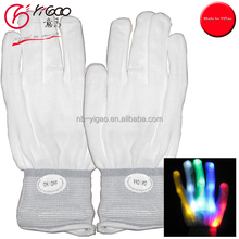 2016 Colorful CE&ROSH Certificate Low Moq Finger Light Up LED Gloves