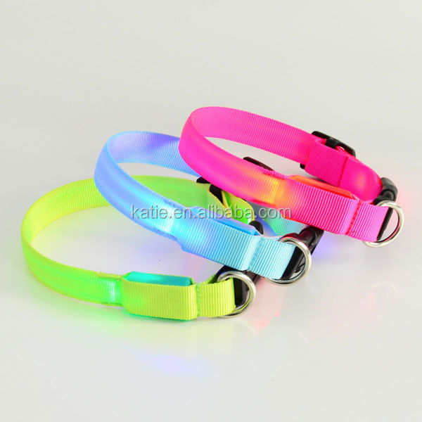 Hot Sell Customized Designer Puppy Flashing LED Bling Dog Collar