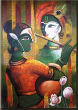 Modern Indian radha krishna oil paintings for sale