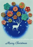 2017 customed fancy kids' non toxic natural wooden cartoon buttons home party decoration for sew DIY craft scrapbooking clothing