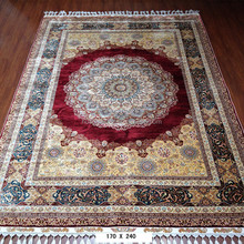 red medallion chinese hand knotted persian rugs handmade iranian silk carpet