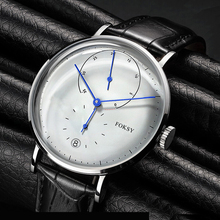 Fashion Charm Domed Glass Stainless Steel 5ATM Water Resistant Men Quartz watch