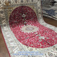 6x9ft red classical handknotted persian handmade oriental silk buy persian rugs