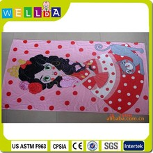 fashionable design picture printing cotton beach towel