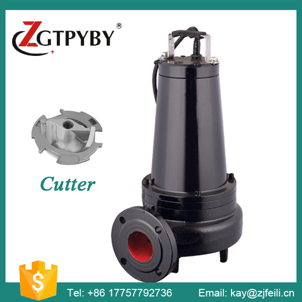 WQK Submersible Waste Sewage Cutter Pump Toilet Sewage Pump