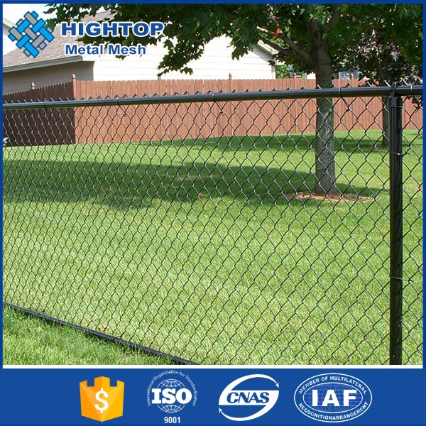 9 gauge PVC Coated/ Galvanized chain link wire mesh fence ISO9001 manufacturer