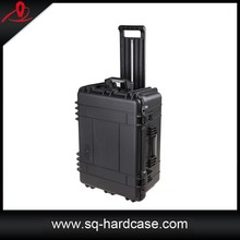 Rolling Plastic Hard Equipment Case With wheels and Foam Inside
