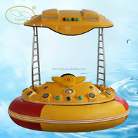 Factory Direct Supply FWULONG Newest Water Play Equipment Kids And Adults Laser Gun Bumper Boat