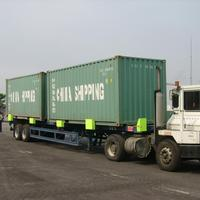 2 axle Special vehicle for port container transport semi trailer