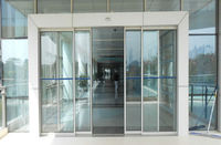 ZG407 Safety tempered glass sliding doors for commercial places