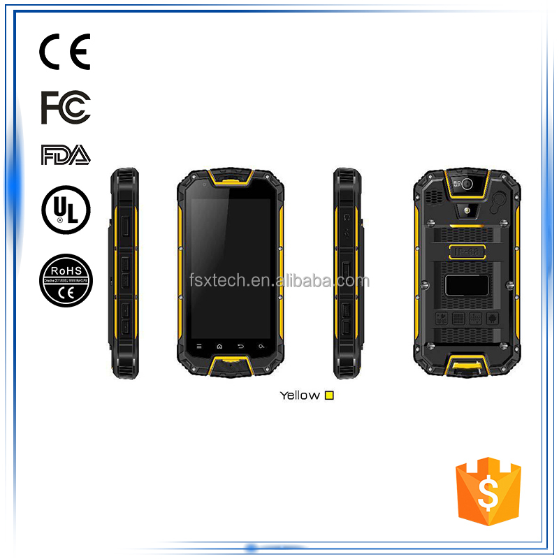 "4.5""Android IP67 2G 3G Bluetooth GPS WIFI FM Compass Gyroscope G-Sensor Accelerometer Zigbee GPIO electronics rugged smartphone"