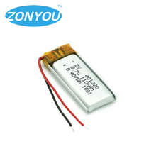 3.7V 110mAh 401230 Lithium Polymer Li-Po Rechargeable Battery for bluetooth Smart Wristband