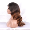 1B# super wave full lace wigs virgin brazilian hair with baby hair for black women