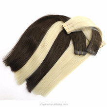 Factory New style hair weft tape hair from China with beautiful color