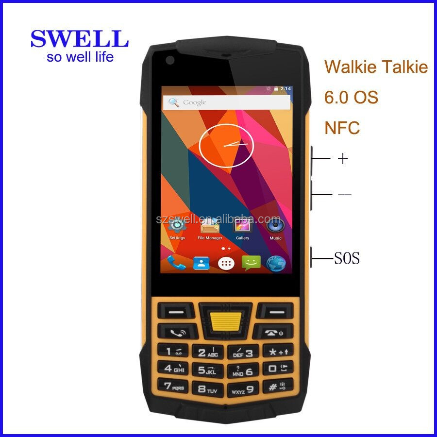 mobile 6 Rugged feature intrinsically safe phone android6.0 industrial grade for mobile dual sim walkie talkie 3.5inch 3G N2