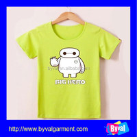 Wholesale cotton printing t-shirt kids girls t shirt plain t shirt for printing