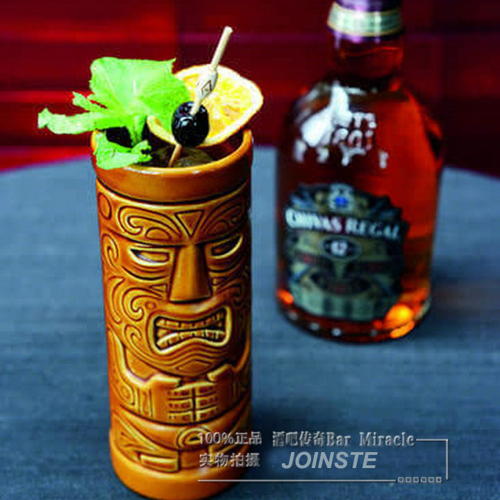 Bar popular Tiki glass mug in volume 400ML