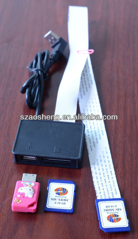 Multifunctional USB with SD extension cable, 2 in 1 card reader extender