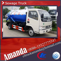 Dongfeng 4*2 95hp small mini used septic trucks 3000L septic tank trucks for sale