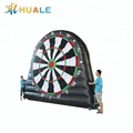 Huale 4 meters high inflatable football darts board game factory