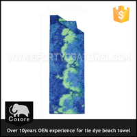 Gift box folding thick large promotion tie dyed wholesale beach towel custom