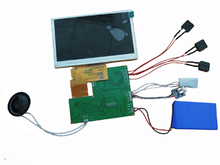 LCD screen with battery with motherboard to make of video module for greeting cards with low price