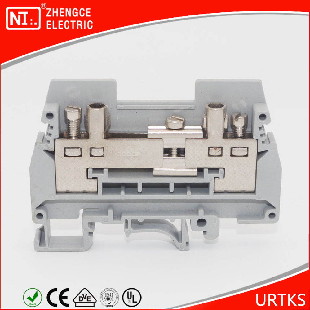 Manufacturer URTK/S Type Din Rail Terminal Block With 660V 57A