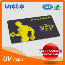 Brand new uv hot stamping gold/silver pvc membership card from China famous supplier