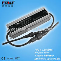 PFC(0.95) EMC 100W 12v~54v power supply led driver (5 years warranty)
