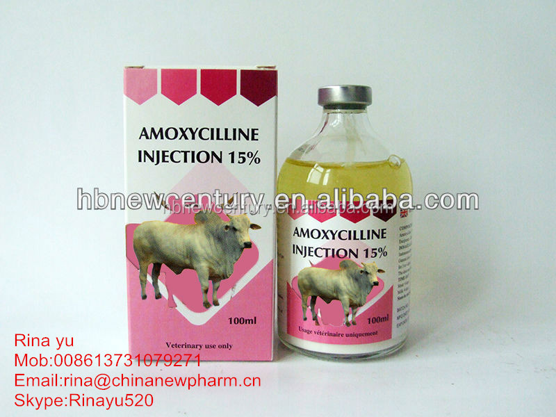 Antibiotic medicine Amoxicillin injection 10% 15% 20%