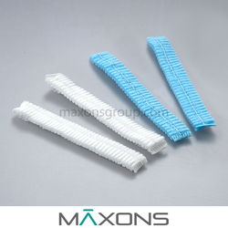 "21"" Disposable Nonwoven Polypropylene Cleanroom Mob Caps"