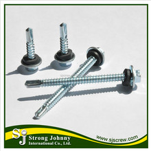 Self drilling waterproof screw with rubber washer